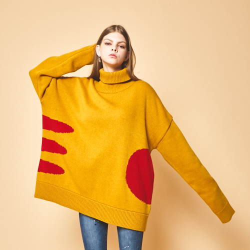 [wool Knit] NOON mustard